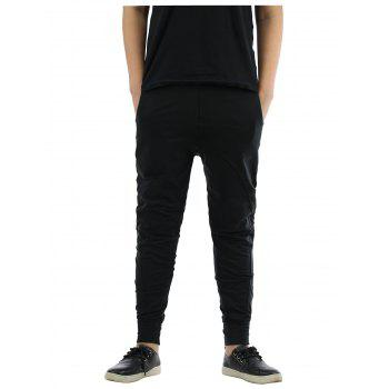 Splicing Design Elastic Waist Beam Feet Jogger Pants