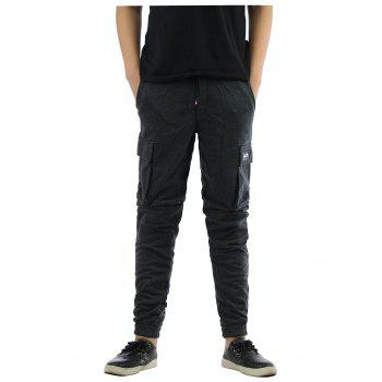 Pockets Design Lace-Up Beam Feet Jogger Pants