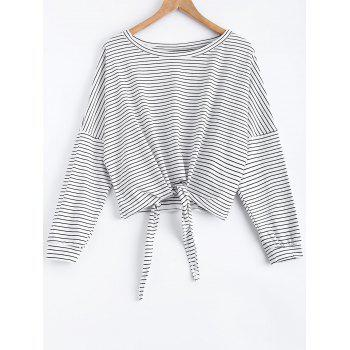 Raglan Striped Bowknot T-Shirt