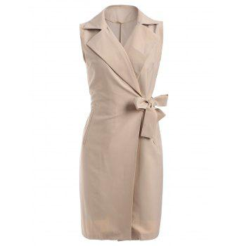 Belted Wrap Coat and Sundress Twinset
