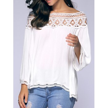 Crochet Off-The-épaule Blouse