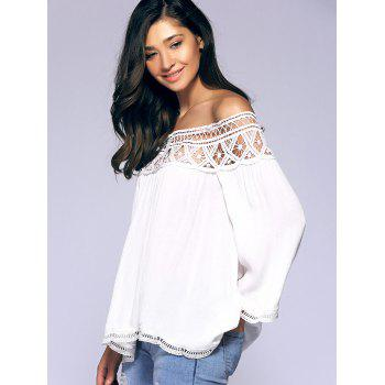 Crochet Off-The-épaule Blouse - Blanc S