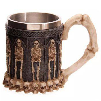 Human Skeleton Skull Embellished 3D Drinkware Coffee Mug