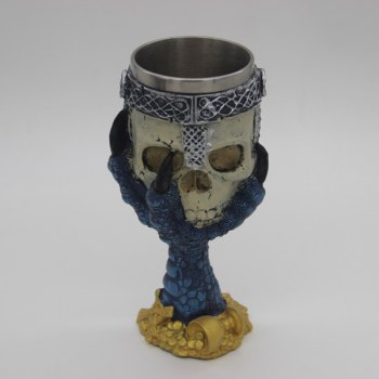 3D Hawk Claw Support Skull Shape Drinkware Goblet