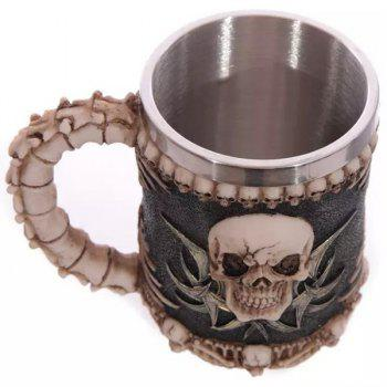 Human Face Skull Decorative 3D Drinkware Coffee Mug - DEEP BROWN