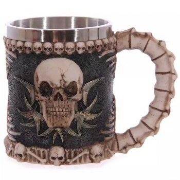 Human Face Skull Decorative 3D Drinkware Coffee Mug