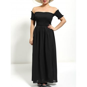 Off The Shoulder Maxi Formal Prom Dress