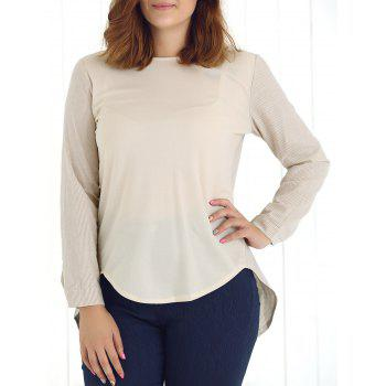 Plus Size High Low Hem Blouse