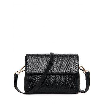 PU Leather Weaving Crossbody Bag