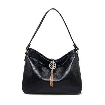 Metal Tassel PU Leather Shoulder Bag