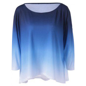 Buy Gradient Color Smock Blouse BLUE/WHITE