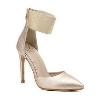 Pointed Toe Elastic Band Pumps