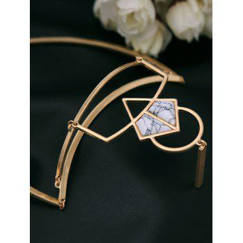 Artificial Stone Geometric Bar Necklace - GOLDEN