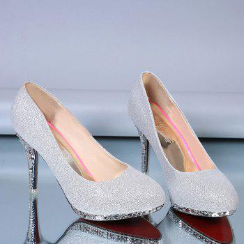 Platform Rhinestones Stiletto Heel Pumps