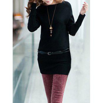 Extensible Belted Minceur Robe pull