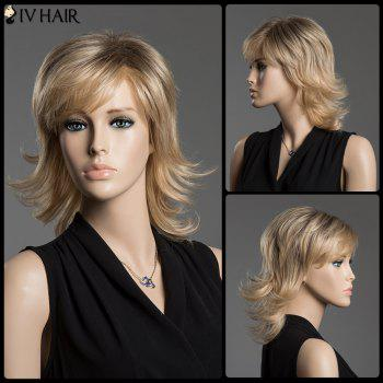 Fluffy Wave Siv Hair Medium Mixed Color Capless Anti Alice Human Hair Wig
