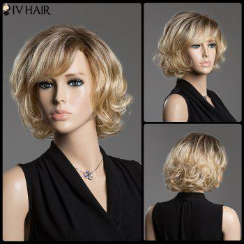 Shaggy Curly Short Side Bang Siv Hair Capless Human Hair Wig