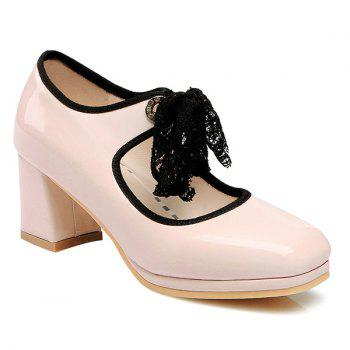 Lace Splicing Bow Pumps