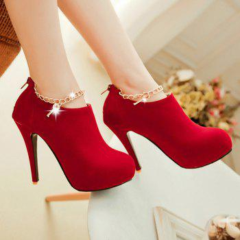 Stiletto Heel Suede Pumps