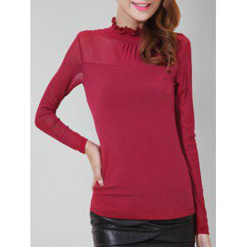 Ruff Collar Mesh Panel Top