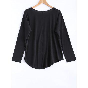 High-Low Loose Fit Long Sleeve Tee - S S