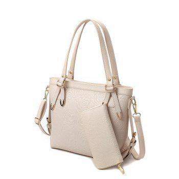 Metal Embossing Flower Pattern Shoulder Bag