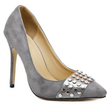 Stiletto Heel Pointed Toe Rivet Pumps