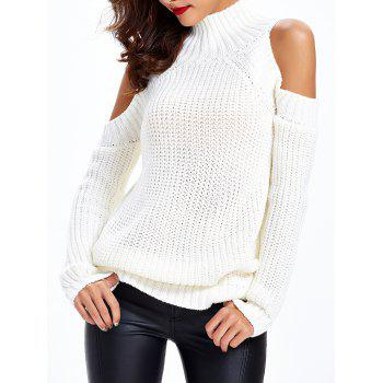 Texture froide épaule Pull - Blanc ONE SIZE