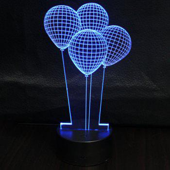 3D Colorful Ombre Balloon Shape Touching Night Light -  COLORFUL