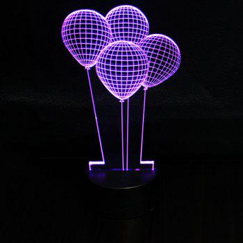 3D Colorful Ombre Balloon Shape Touching Night Light - COLORFUL COLORFUL