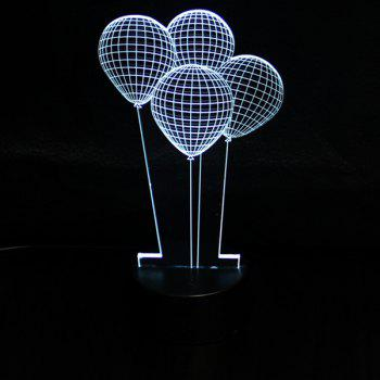 3D Colorful Ombre Balloon Shape Telecontrol Night Light -  COLORFUL