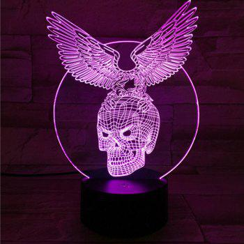 Touching Hawk Skull Shape 3D Visual Ombre Night Light - COLORFUL