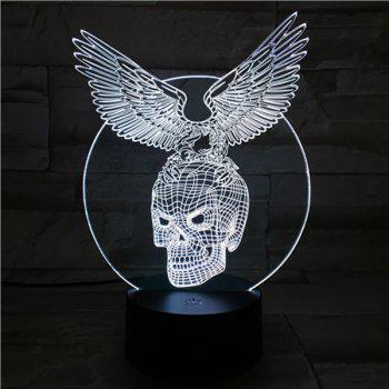 Touching Hawk Skull Shape 3D Visual Ombre Night Light - COLORFUL COLORFUL