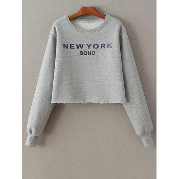 Long Sleeve Round Neck Letter Print Sweatshirt