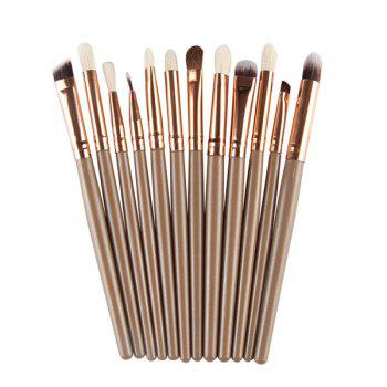 Professional 12 Pcs Goat Hair Eye Makeup Brush Set
