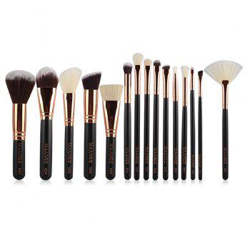15 Pcs Nylon Face Lip Eye Makeup Brush Set