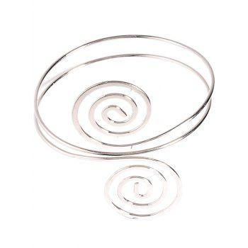 Music Note Hollow Out Arm Chain Jewelry - SILVER