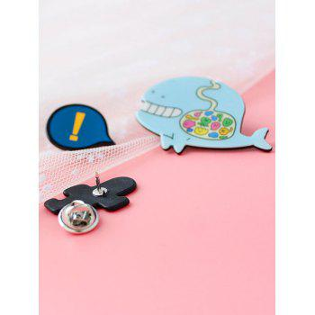 Whale Cactus Point d'exclamation Brooches Pattern - Vert