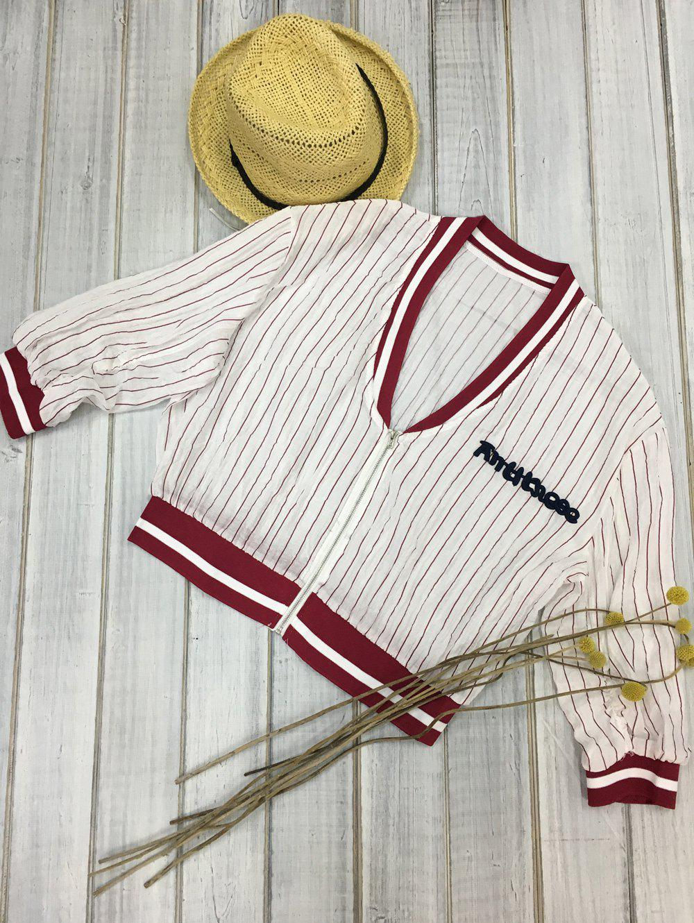 Two-Tone Striped Letter Jacket автомат 3p 63а тип с 6 ka abb s203