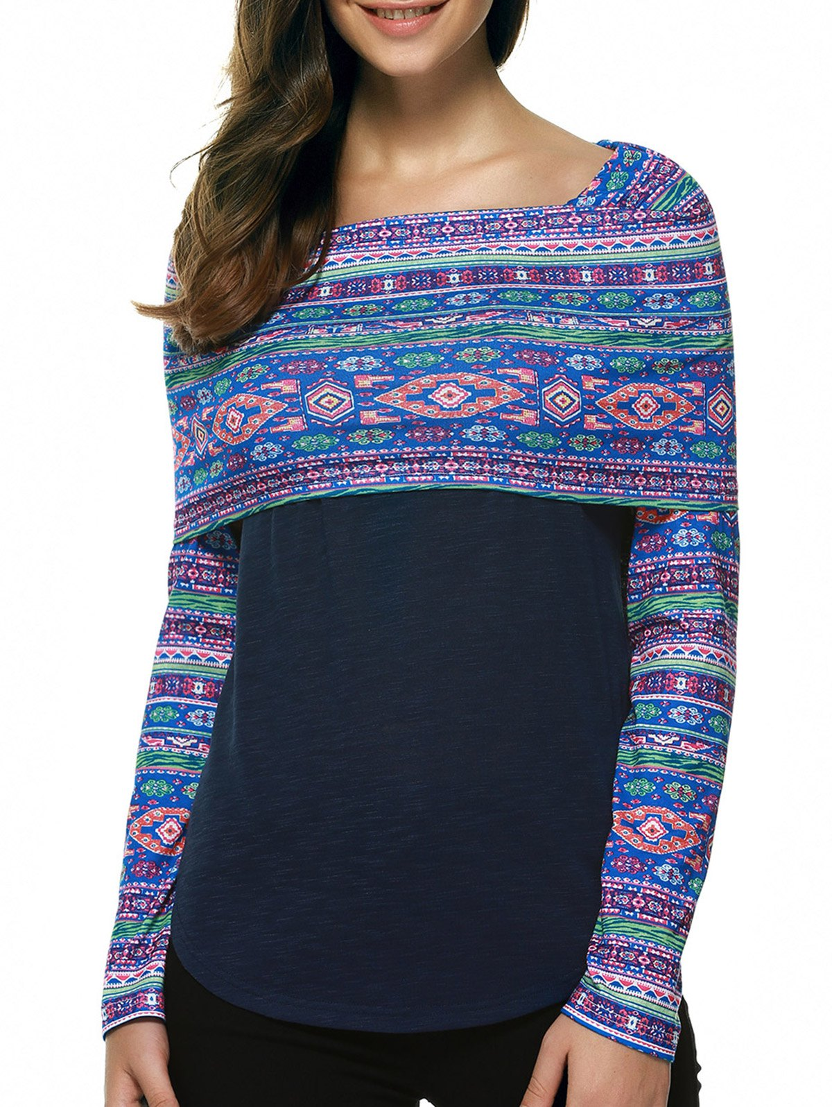 Cape Style Print Tee - COLORMIX XL
