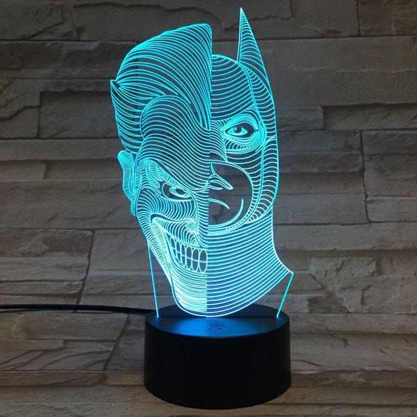 Colorful 3D Visual Telecontrol Double Faced Shape Ombre Night Light