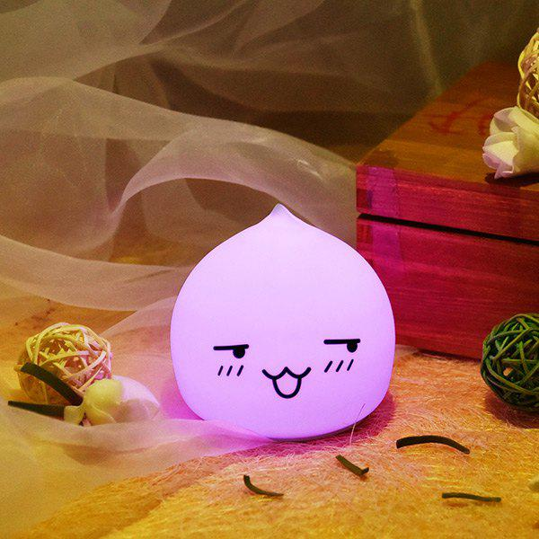 Colorful  Waterdrop Emoticon Cartoon Ombre LED Night Light - COLORFUL
