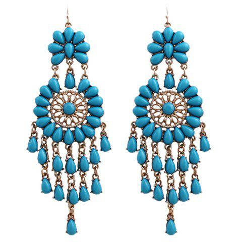 Bohemian Style Teardrop Earrings - BLUE