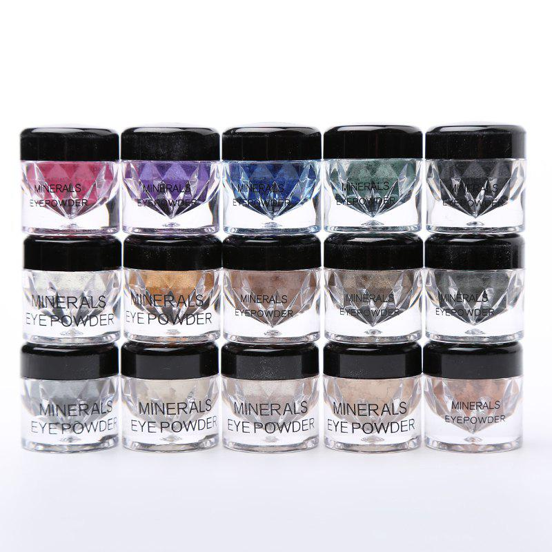 15 Colours/Set Powder Pearl Mineral Eyeshadow -  COLORMIX