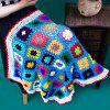 Confortable Checkered Lacy Knitting Blanket Hollowed For Kids - multicolore