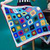 Comfortable Checkered Lacy Knitting Hollowed Blanket For Kids - COLORMIX