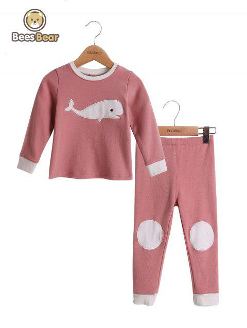 Sets Dolphin design Homewear Pyjamas Pyjamas Pyjamas - Rose CHILD-2