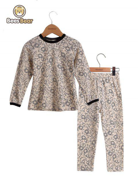 Animal Print Homewear Nightwear Sleepwear Pyjamas Sets - OFF WHITE CHILD-8