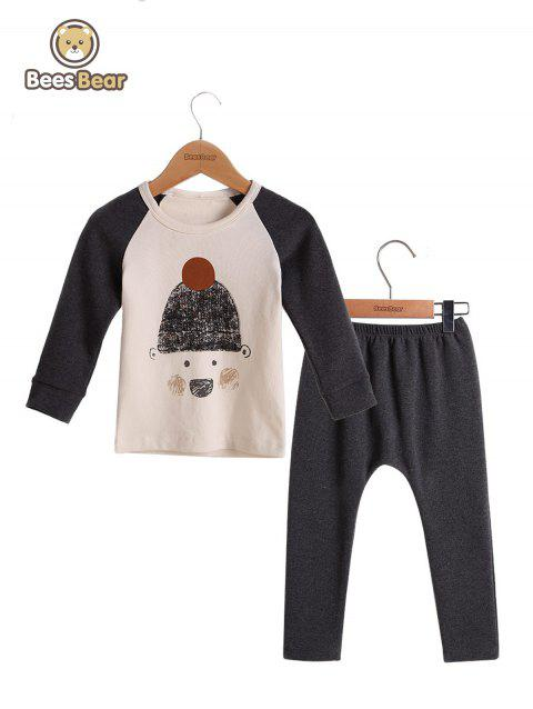 Cartoon Imprimer Sets Homewear Pyjamas Pyjamas Pyjamas - Gris CHILD-6