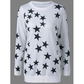 Star Print Long Sweatshirt